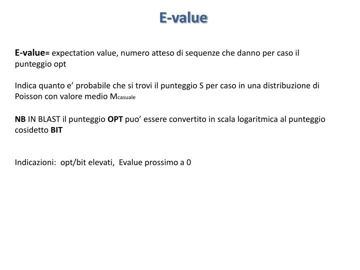 E-value
