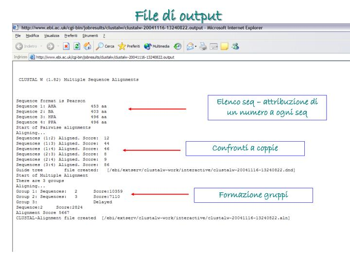 File di output