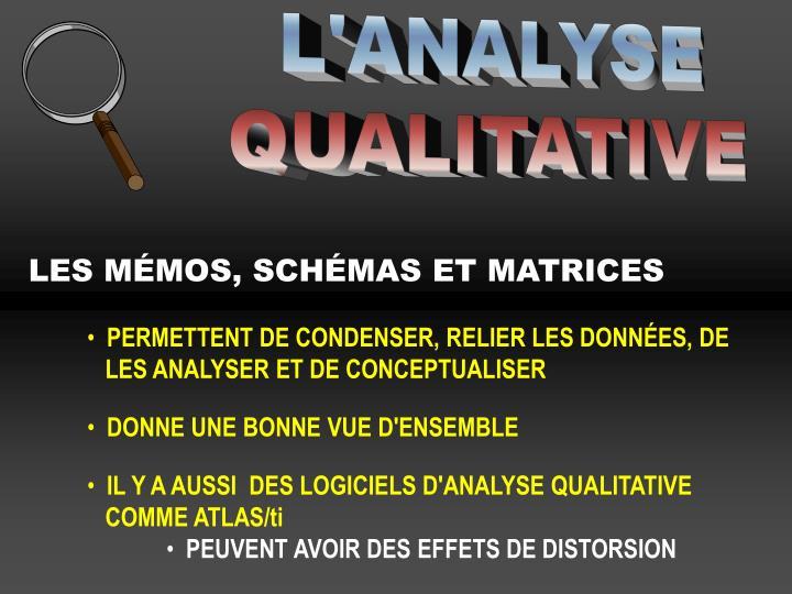 L'ANALYSE