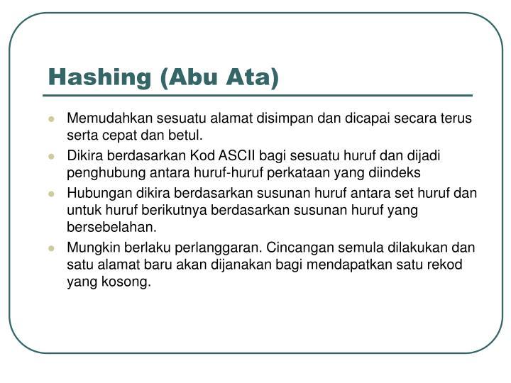 Hashing (Abu Ata)