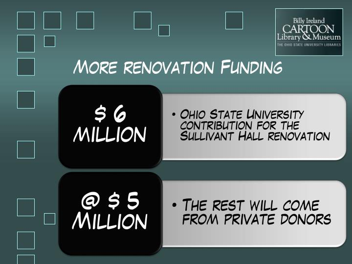 More renovation Funding