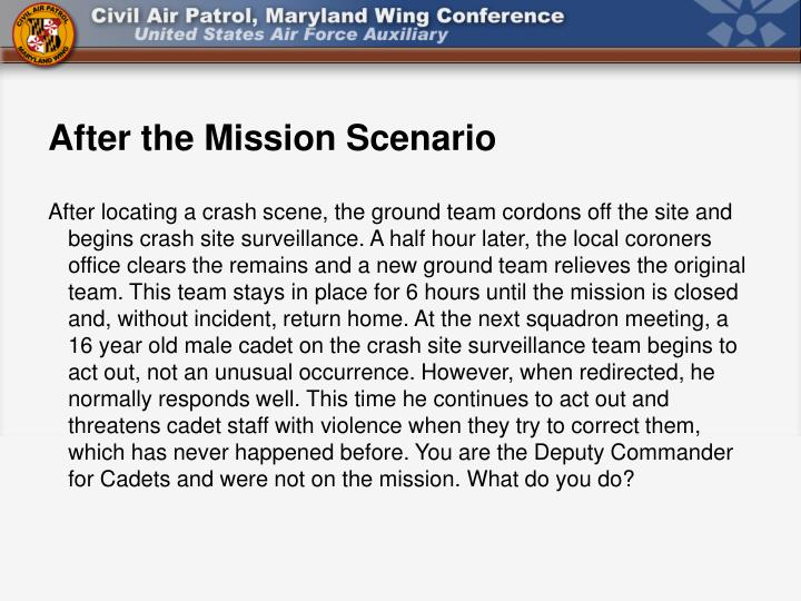 After the Mission Scenario