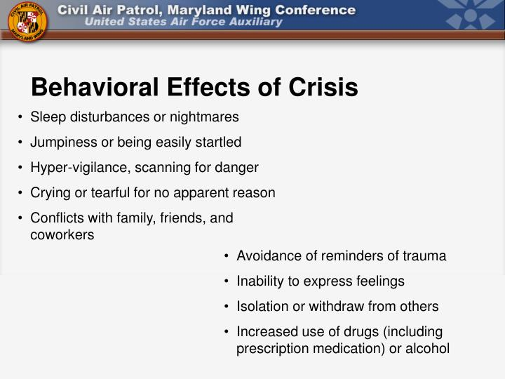 Behavioral Effects of Crisis