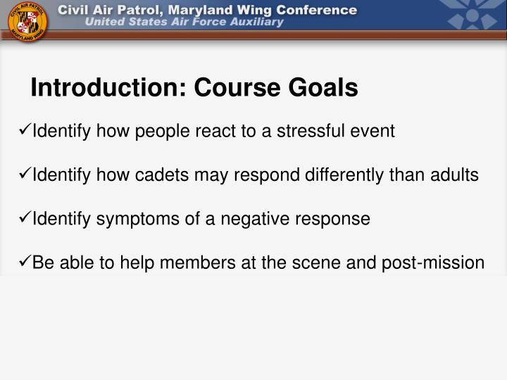 Introduction: Course Goals