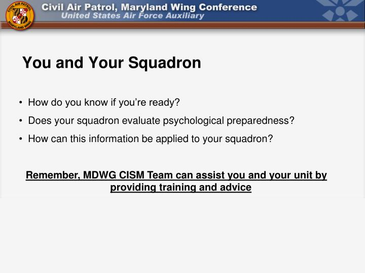 You and Your Squadron