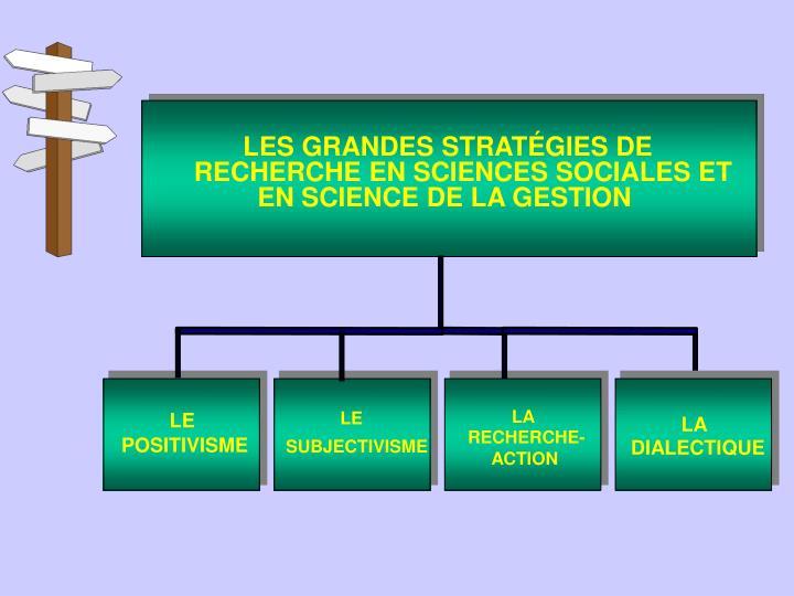 LES GRANDES STRATÉGIES DE