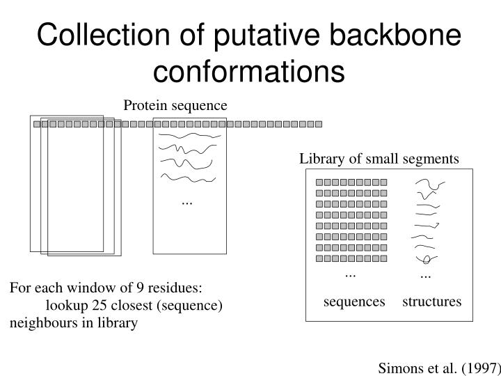 Collection of putative backbone conformations