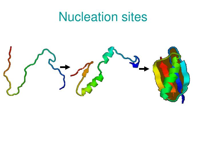 Nucleation sites