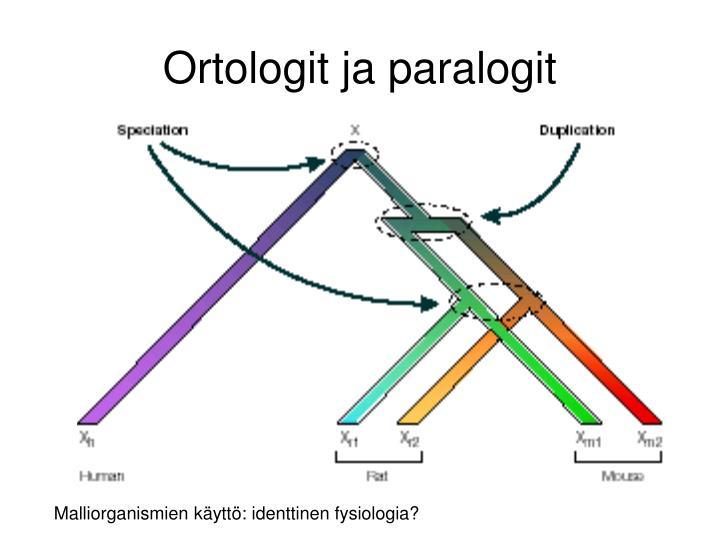 Ortologit ja paralogit