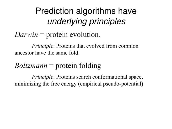 Prediction algorithms have