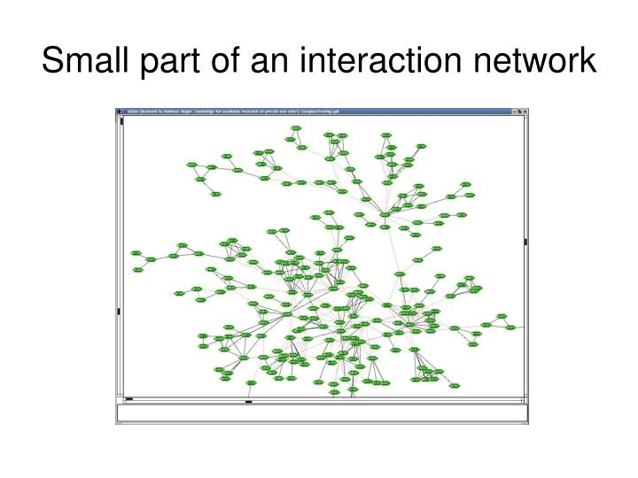 Small part of an interaction network