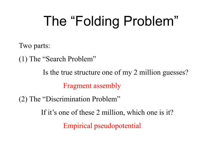 """The """"Folding Problem"""""""