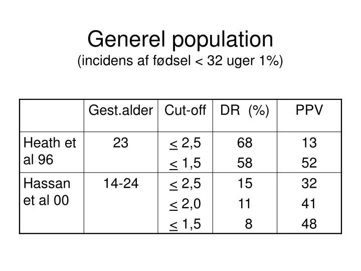 Generel population