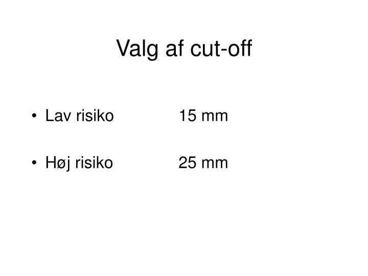 Valg af cut-off