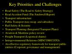 key priorities and challenges
