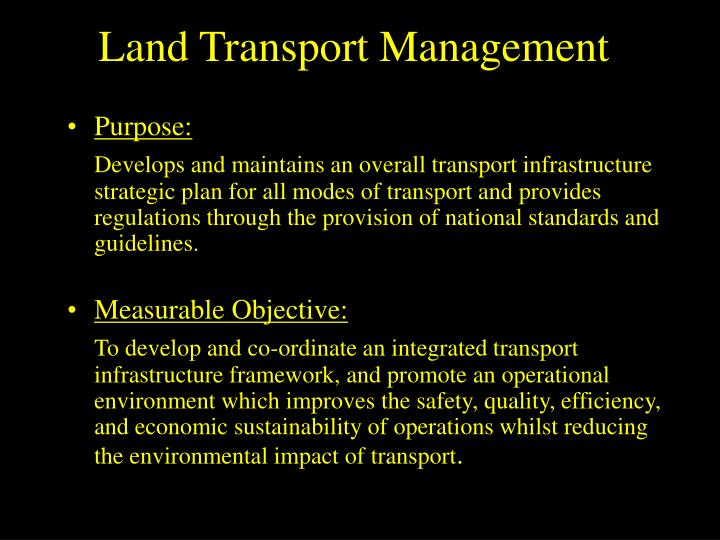 Land Transport Management