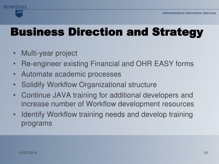 Business Direction and Strategy