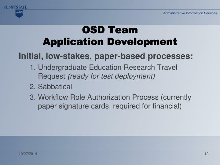 OSD Team
