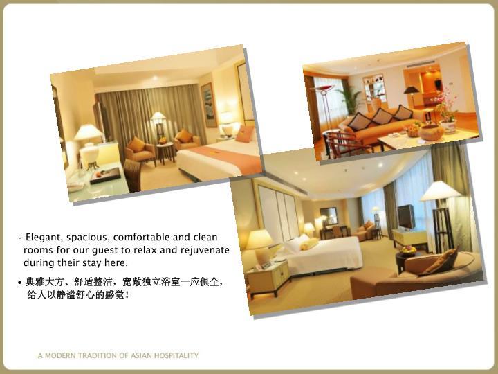 Elegant, spacious, comfortable and clean