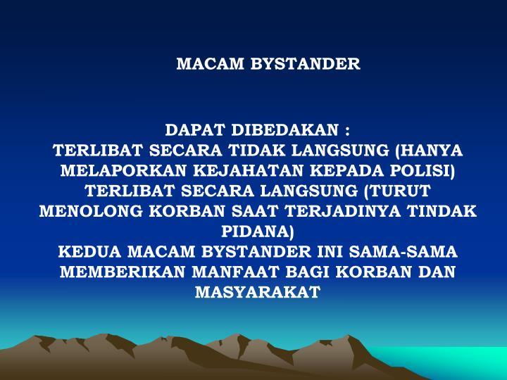 MACAM BYSTANDER