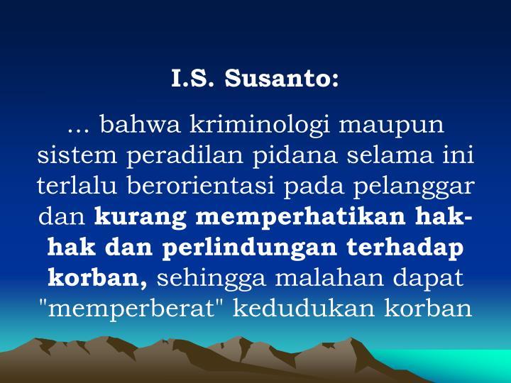 I.S. Susanto: