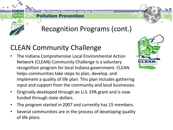 Recognition Programs (cont.)