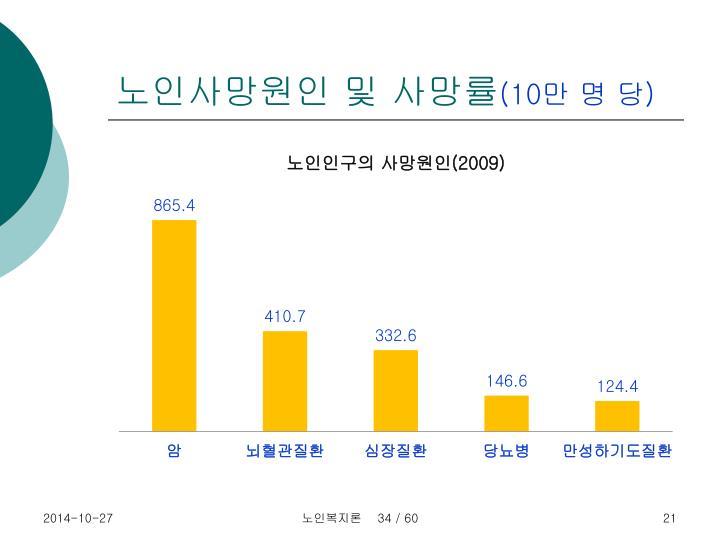 노인사망원인 및 사망률