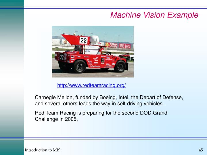 Machine Vision Example
