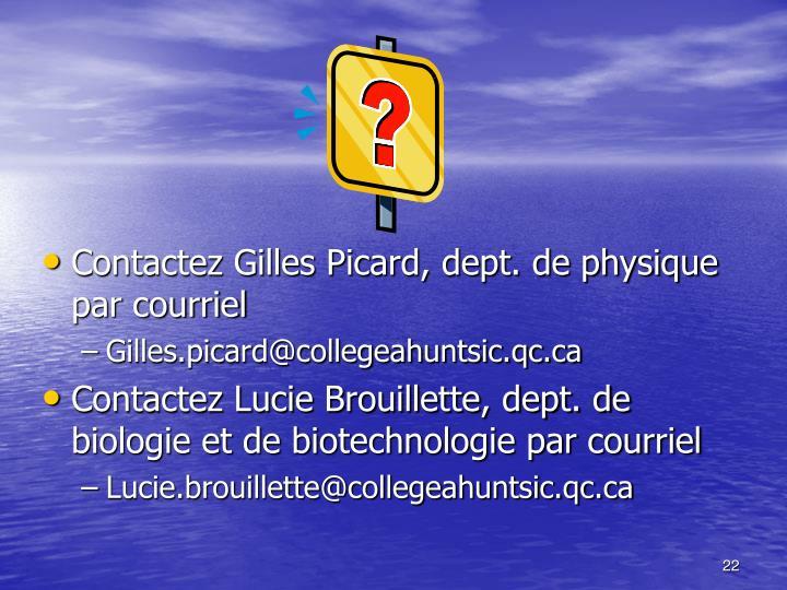 Contactez Gilles Picard, dept. de physique par courriel