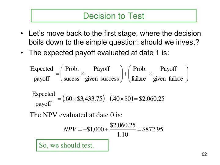 Decision to Test