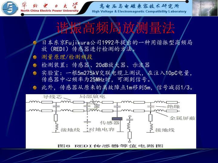 谐振高频局放测量法