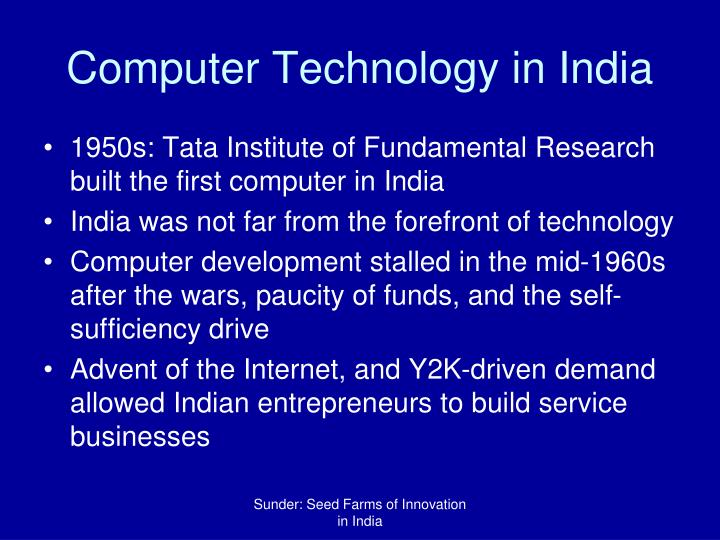 Computer Technology in India
