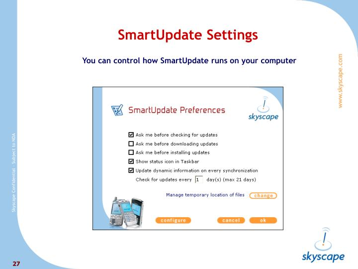 SmartUpdate Settings