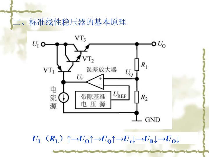 二、标准线性稳压器的基本原理