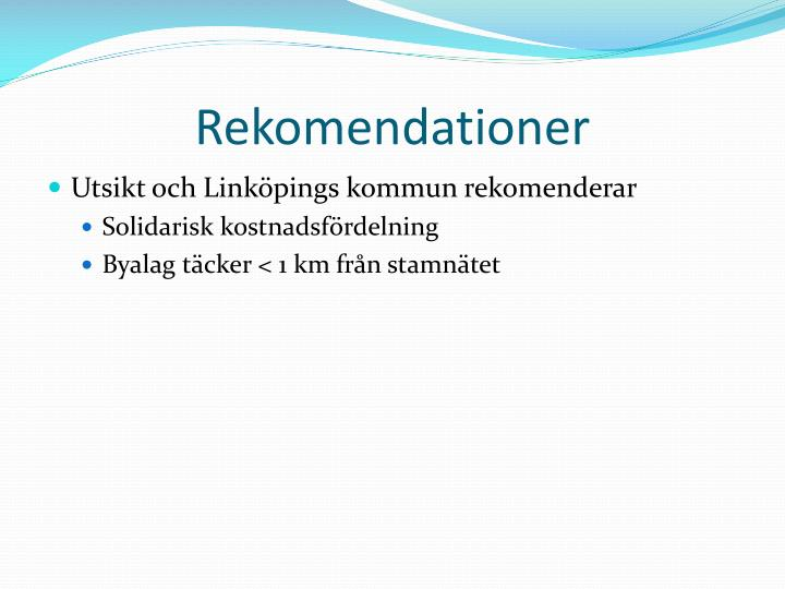 Rekomendationer