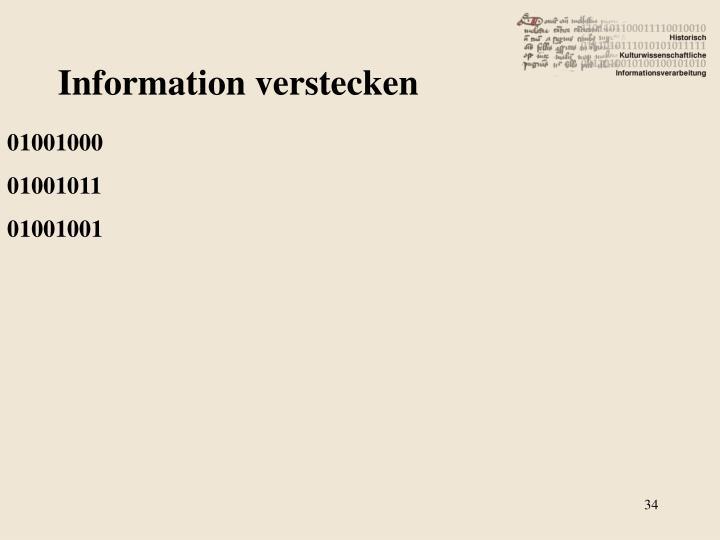 Information verstecken