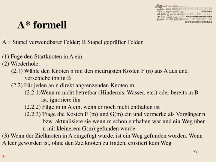 A* formell