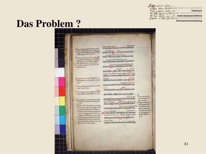 Das Problem ?