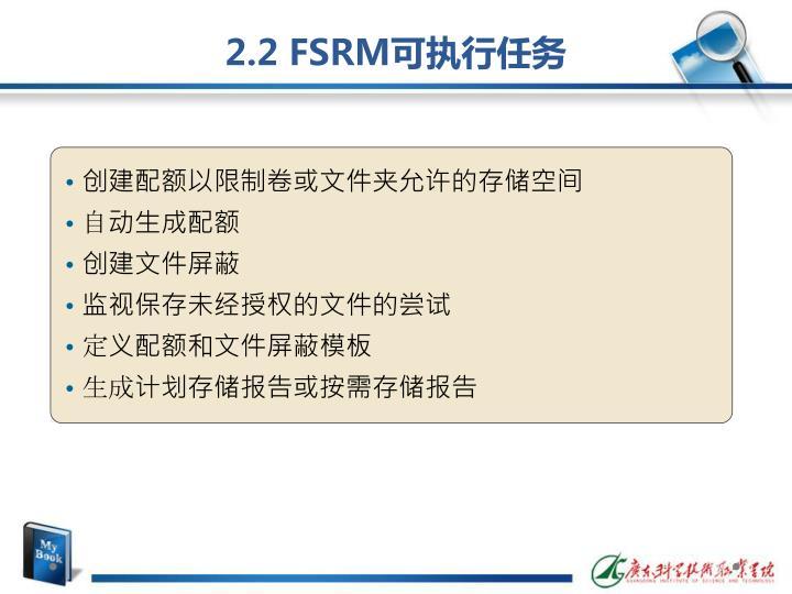 2.2 FSRM