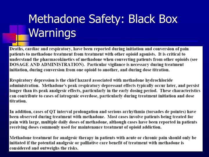 Methadone Safety: Black Box Warnings