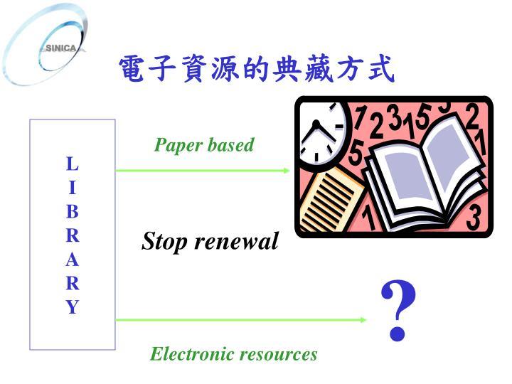 電子資源的典藏方式