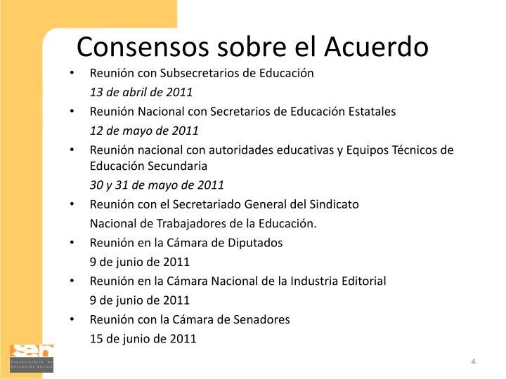 Consensos sobre el Acuerdo