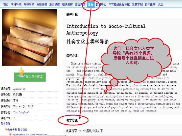 """这门""""社会文化人类学导论""""共有"""