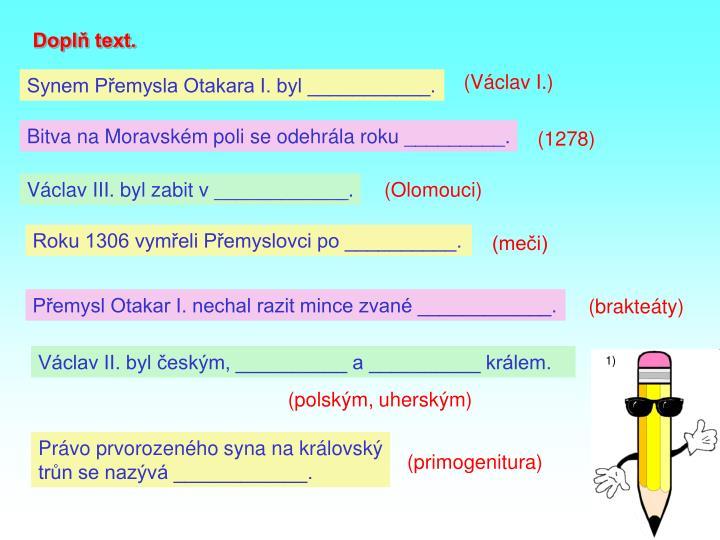 Doplň text.