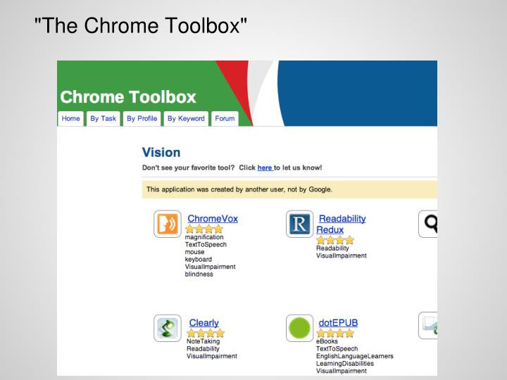 """The Chrome Toolbox"""