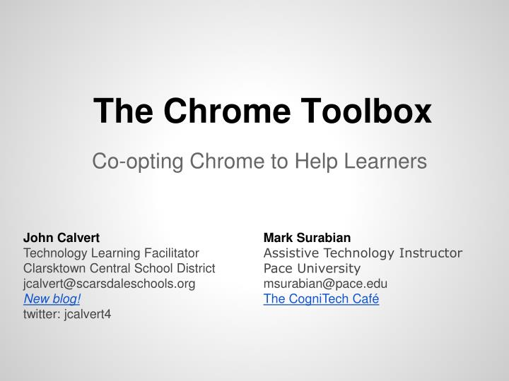 The Chrome Toolbox