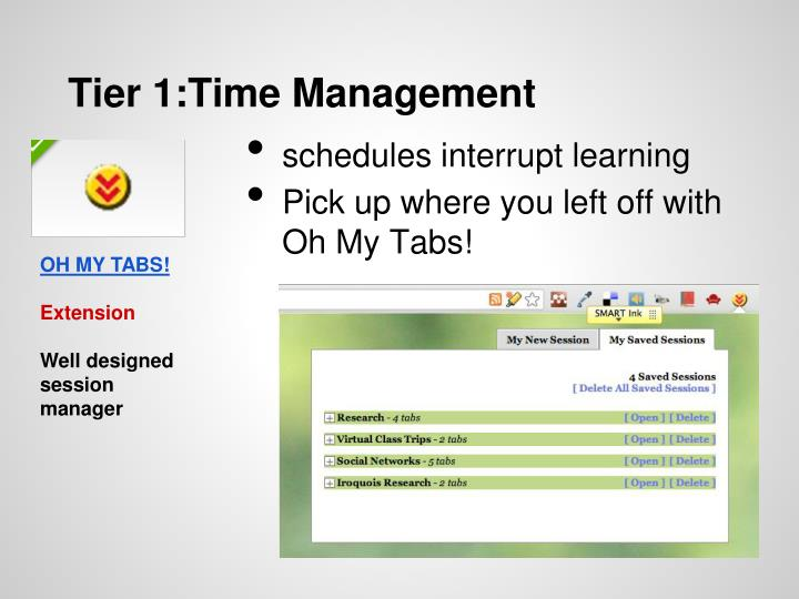 Tier 1:Time Management