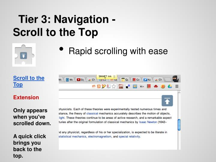 Tier 3: Navigation -