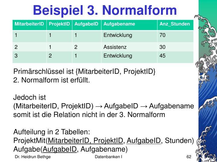 Beispiel 3. Normalform