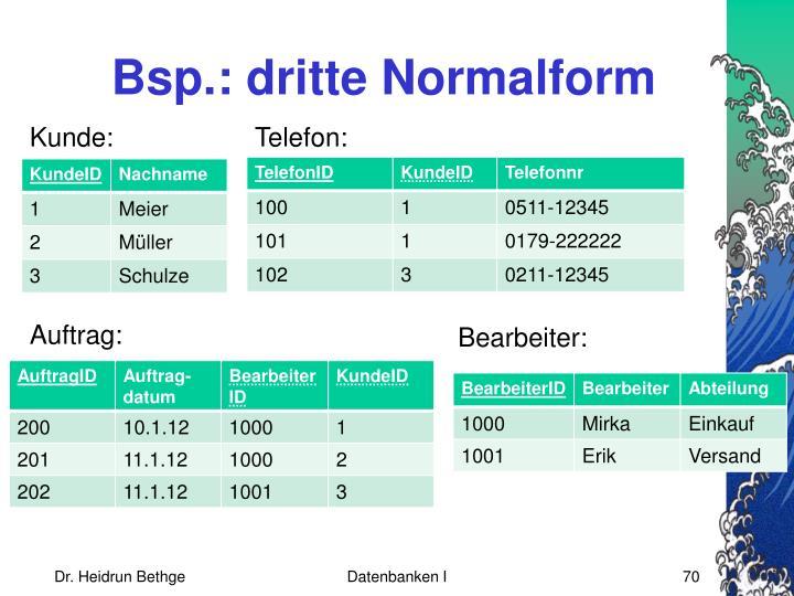 Bsp.: dritte Normalform